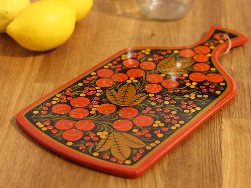 Gold & Red Berries Serving Board II