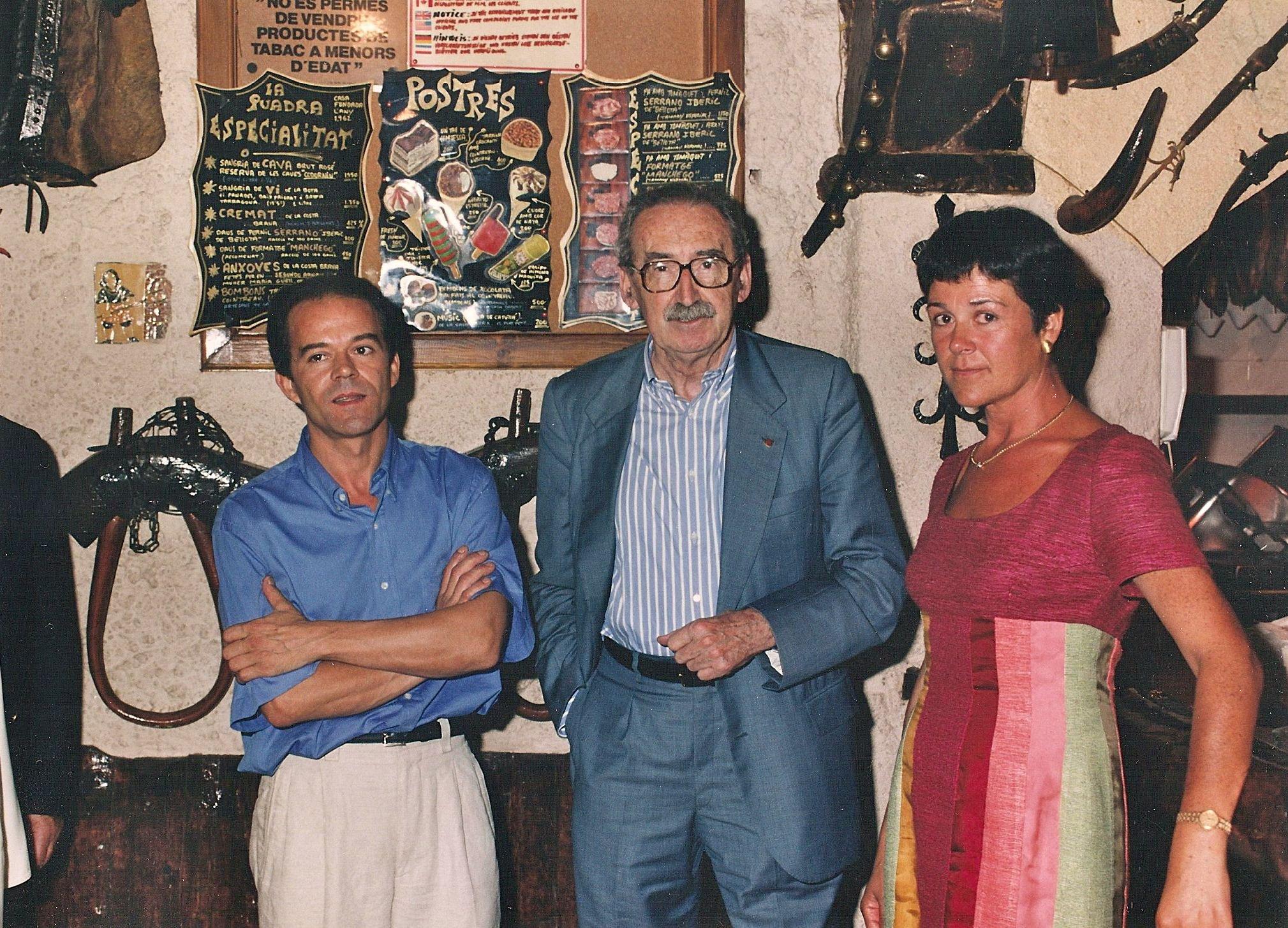 El conseller Laporta als 90's