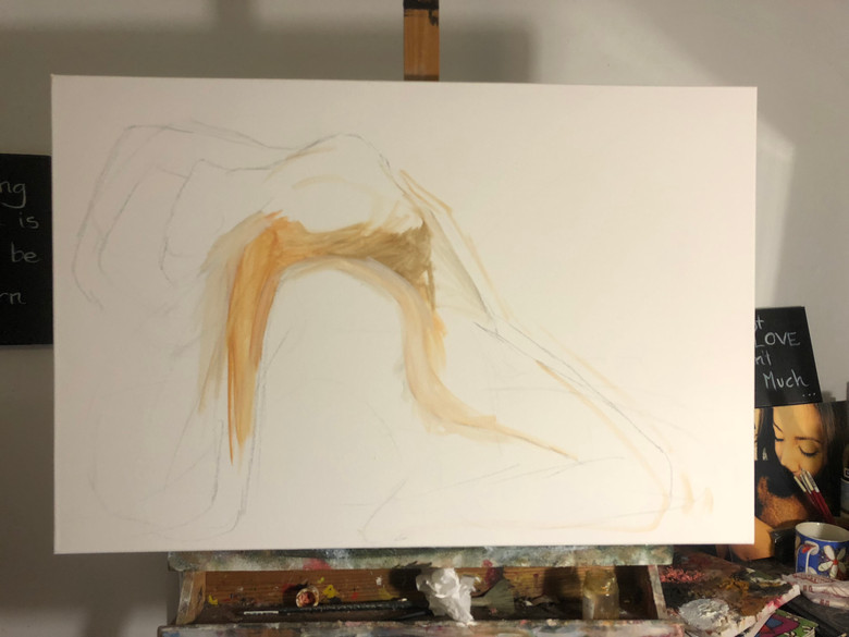 The painting starts