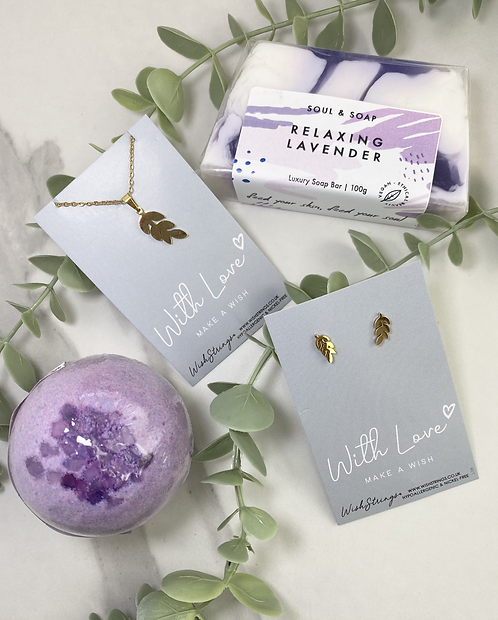 Leafy Jewellery and Pamper Set