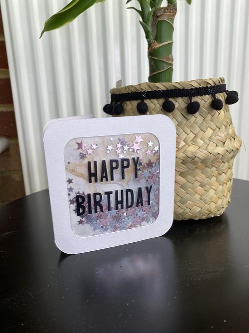 'Happy Birthday' Shaker Card
