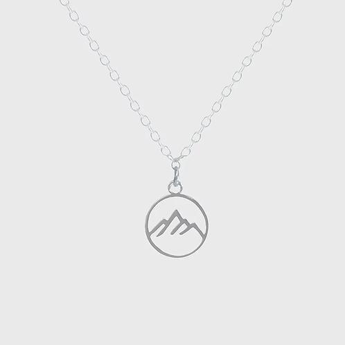Mountain Range Necklace - Silver