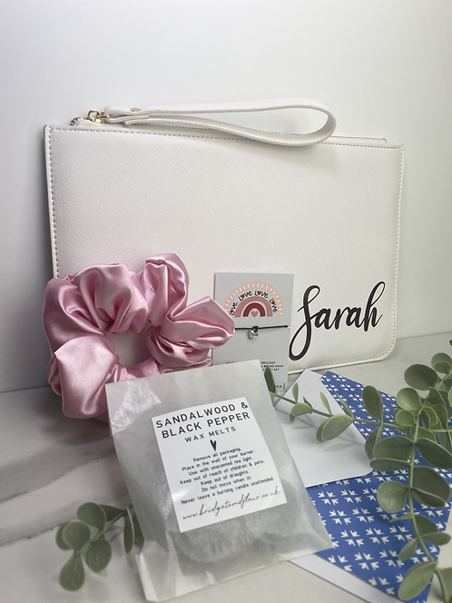 Personalised White Pouch Box