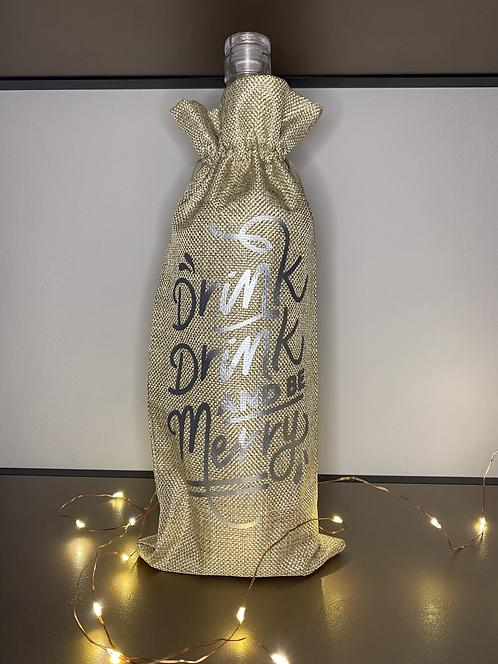 'Be Merry' Wine Bag