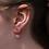 Thumbnail: Cup Half Full Earrings - Purple
