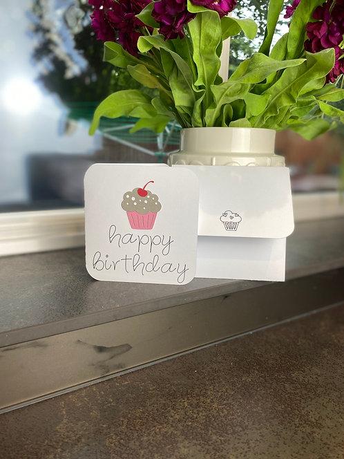 'Cupcake Birthday' Card