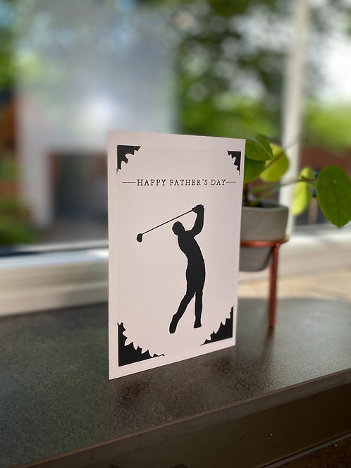'Golfing' Father's Day Card