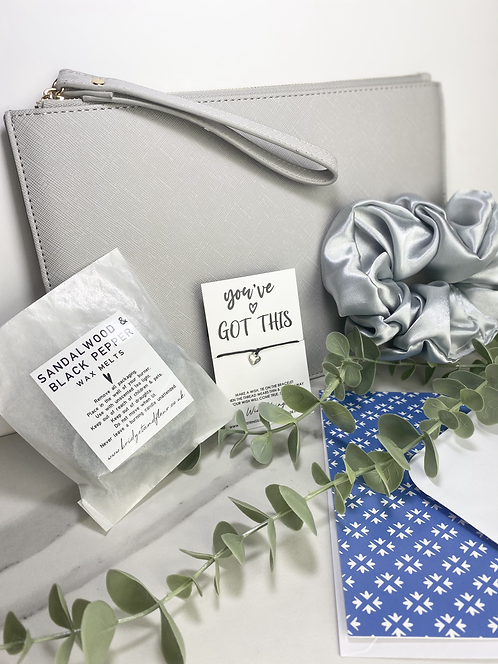 Personalised Grey Pouch Box
