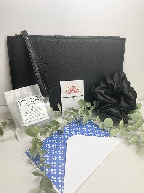 Personalised Black Pouch Box
