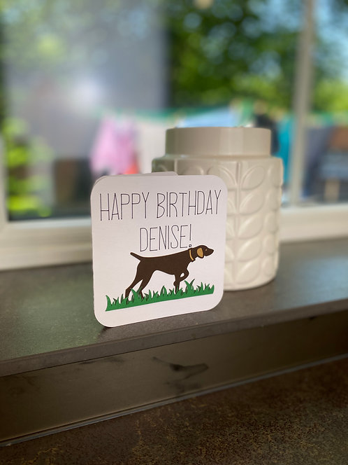 'Personalised Dog Birthday' Card