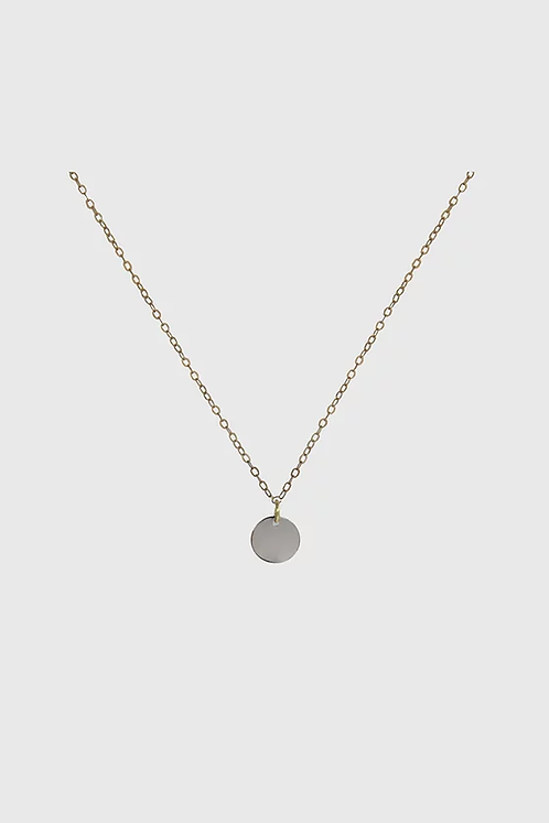 Disk Necklace - Gold