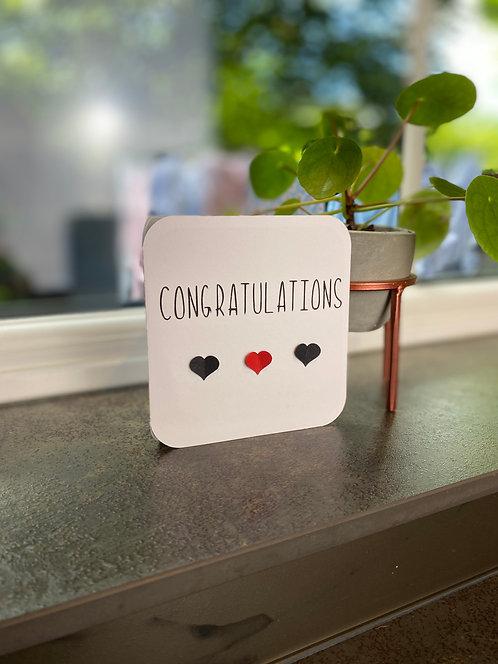 3D Heart Congratulations Card
