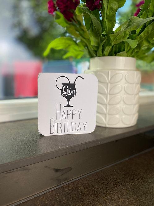 'Gin Birthday' Card