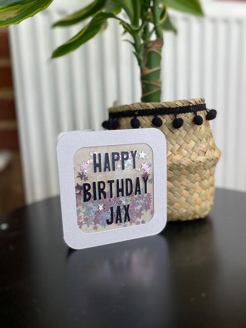 Personalised Shaker Card