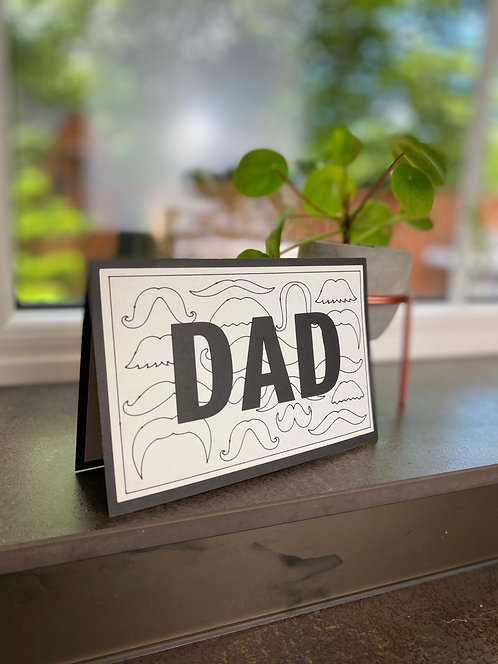 'Moustache Dad' Father's Day Card
