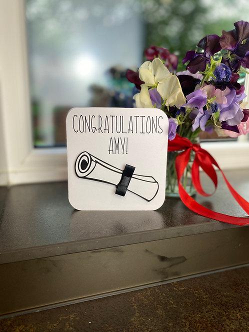 'Congratulations Graduation' Card