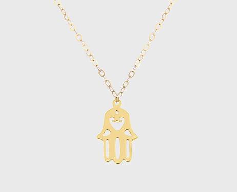 Hamsa Hand Necklace - Gold
