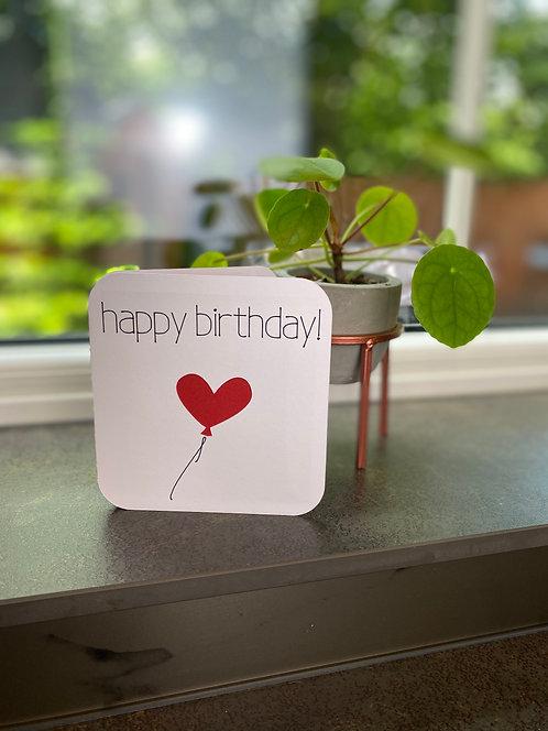 'Balloon Cutout' Happy Birthday Card