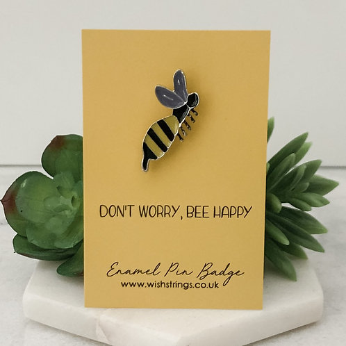 Bee Happy WishString Pin