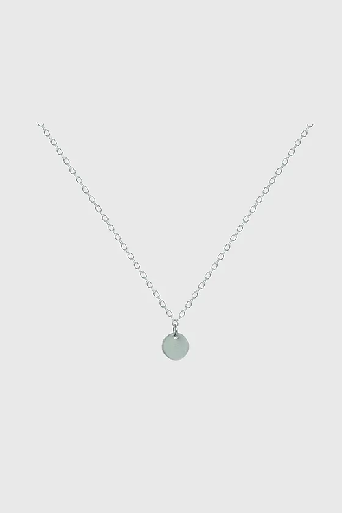 Disk Necklace - Silver