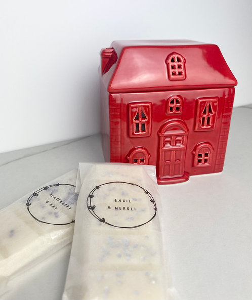 Red House Wax Melt Burner with Wax Melts