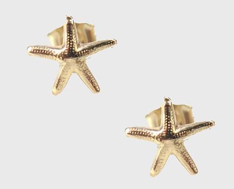 Starfish Stud Earrings - Gold