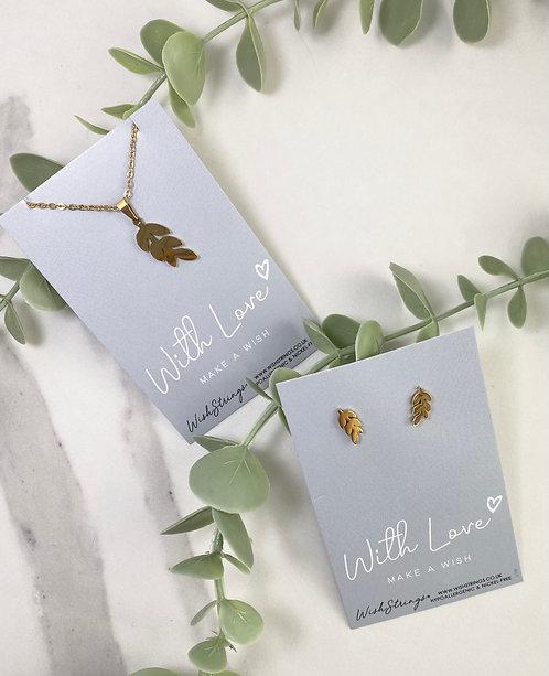Leafy Jewellery Set
