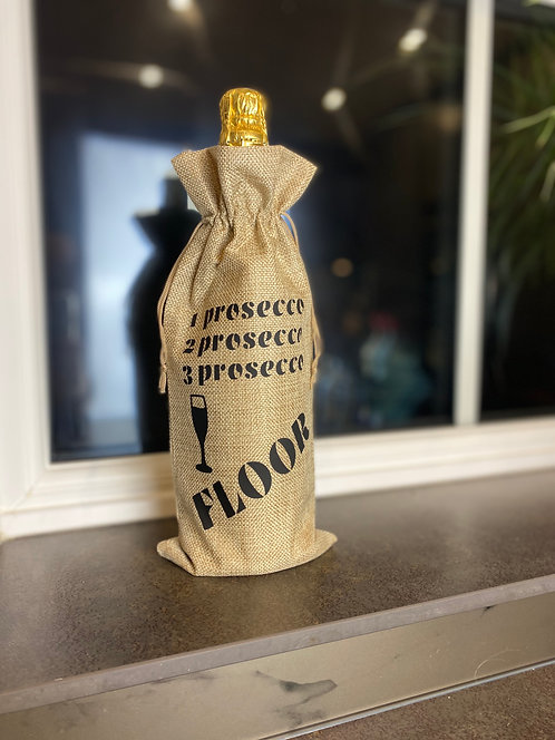 '3 Prosecco Floor' Wine Bag