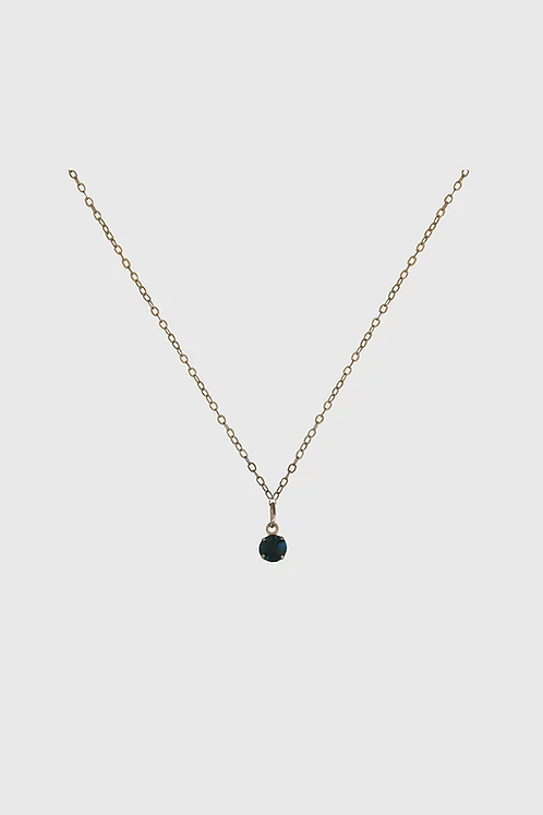 Forest Green & Gold Necklace