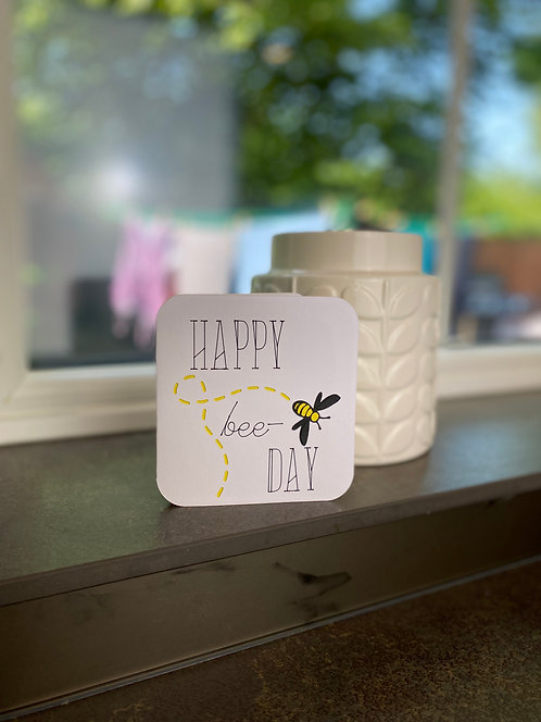 'Happy Bee-Day' Card
