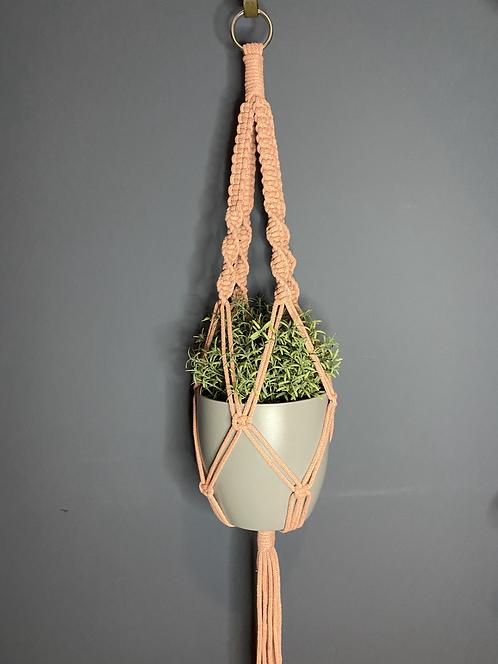 Chunky Macrame Plant Hanger - Blush Pink