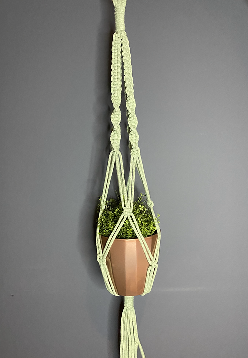 Chunky Macrame Plant Hanger - Mint