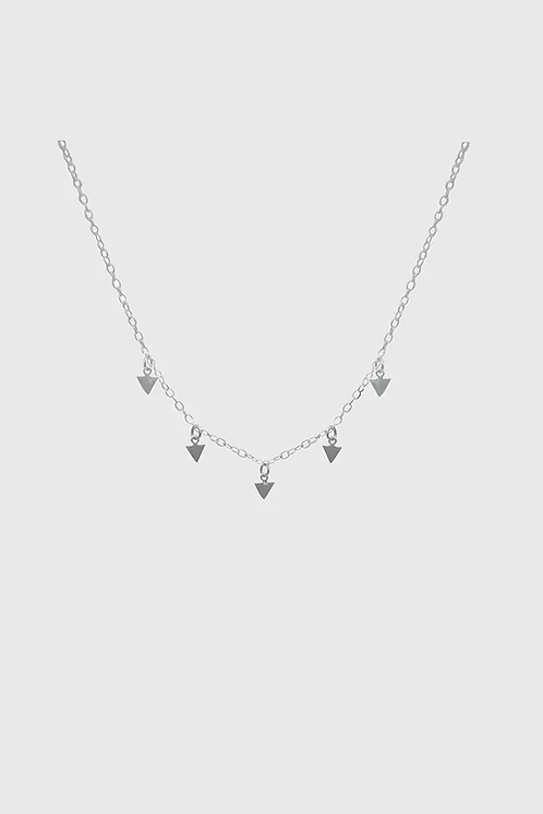 Triangle Necklace - Silver