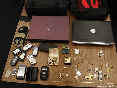 Phones, Laptops, Jewlery stolen by criminal