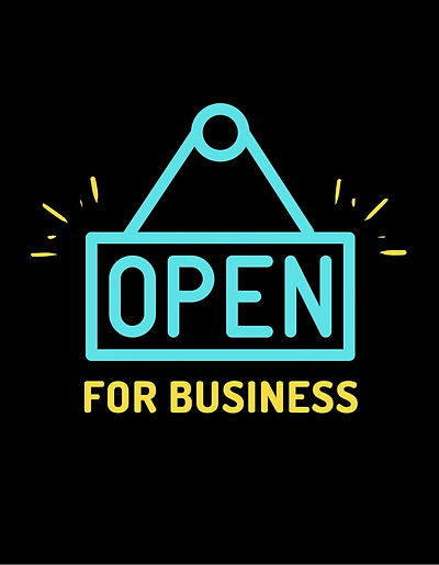 Blue-Yellow-Open-Sign-Bold-Business-and-Entrepreneur-Professional-T-Shirt.jpg
