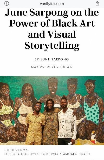 """June Sarpong on the Power of Black Art and Visual Storytelling"" ~ Vanity Fair"