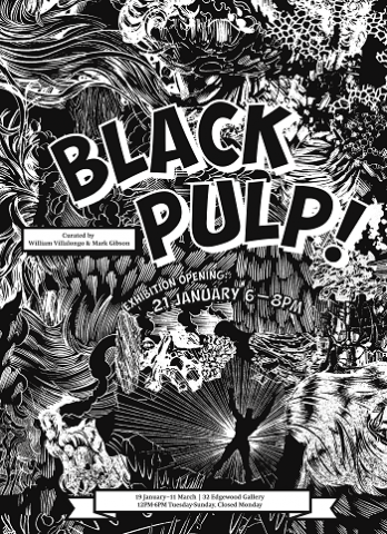 "A new exhibition at the Yale School of Art (YSA) explores the creative use of printed media and artwork to challenge racist narratives and change limited notions of black experience in America.  ""Black Pulp!"" features 65 objects, including rare magazines, literary journals, novels, cartoons, and comics, as well as contemporary art from the Black Diaspora. It tells a story of black and non-black artists and publishers working together over 90 years to draw attention to the black experience, rebuff Jim Crow politics, and refute racist caricatures.  The exhibition — curated by artist William Villalongo, a lecturer at YSA, and YSA alumnus Mark Thomas Gibson, '13 M.F.A. — will be on view Jan. 19–March 11 at the YSA's 32 Edgewood Avenue Gallery in New Haven. It is free and open to the public from noon to 6 p.m. Tuesdays through Sundays.  ""The pulp attitude is to take the tragic and painful points of history, like Jim Crow and the Vietnam War, and challenge them through biting humor, satire, and wit,"" says Villalongo. ""Many works on view offer up windows into the darker, erotic, satirical, and more absurd recesses of the black popular imagination, while underscoring important debates around personhood and identity.""  The exhibition features influential Harlem Renaissance-era periodicals, such as The Crisisand Opportunity magazines, and rare art journals, such as Fire!! and Ebony & Topaz. It includes contributions from Emory University's Stuart A. Rose Library, the Schomburg Center for Research in Black Culture, the Library of Congress, and Yale University Art Gallery."