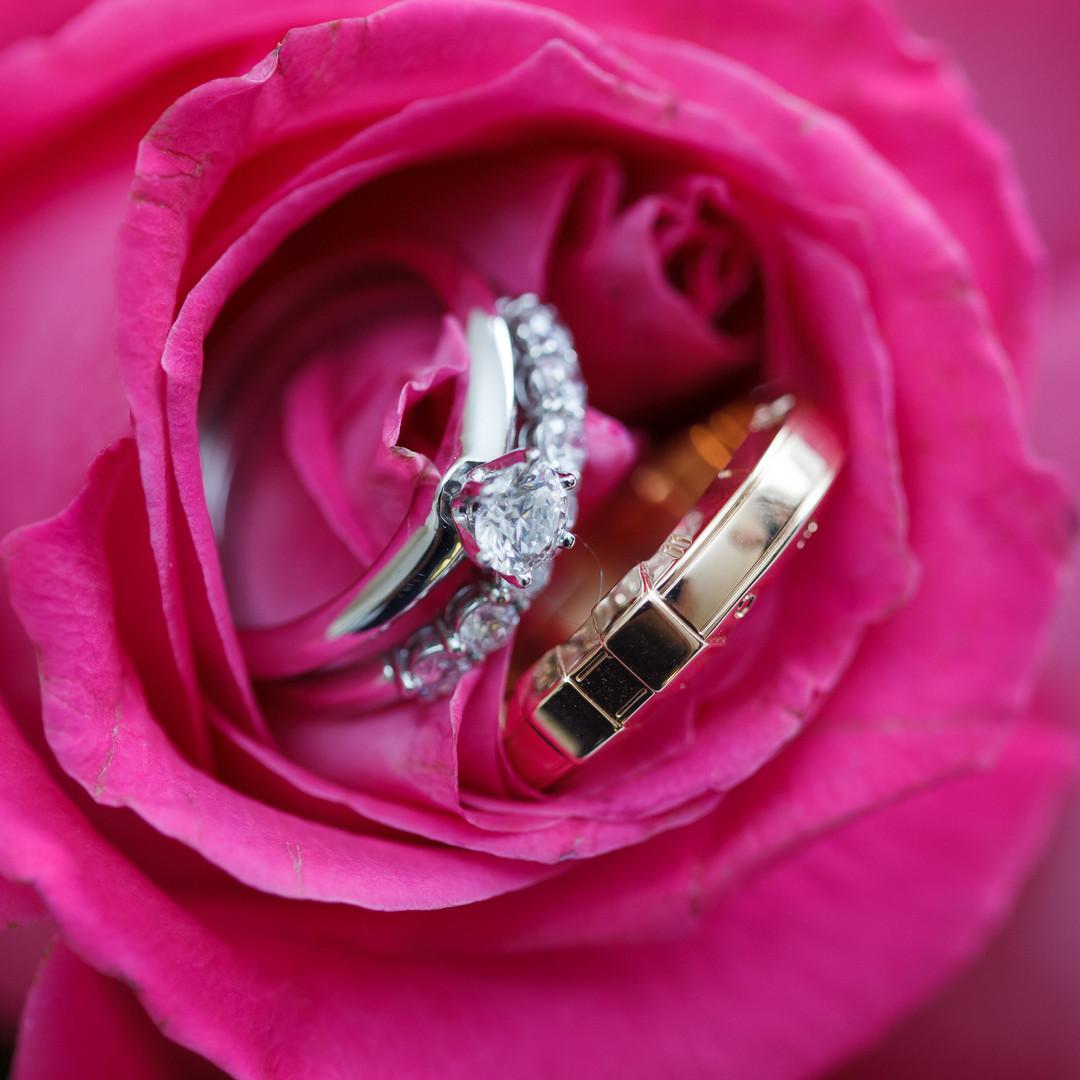 Wedding rings details done in Delray Beach's Marriott Hotel!