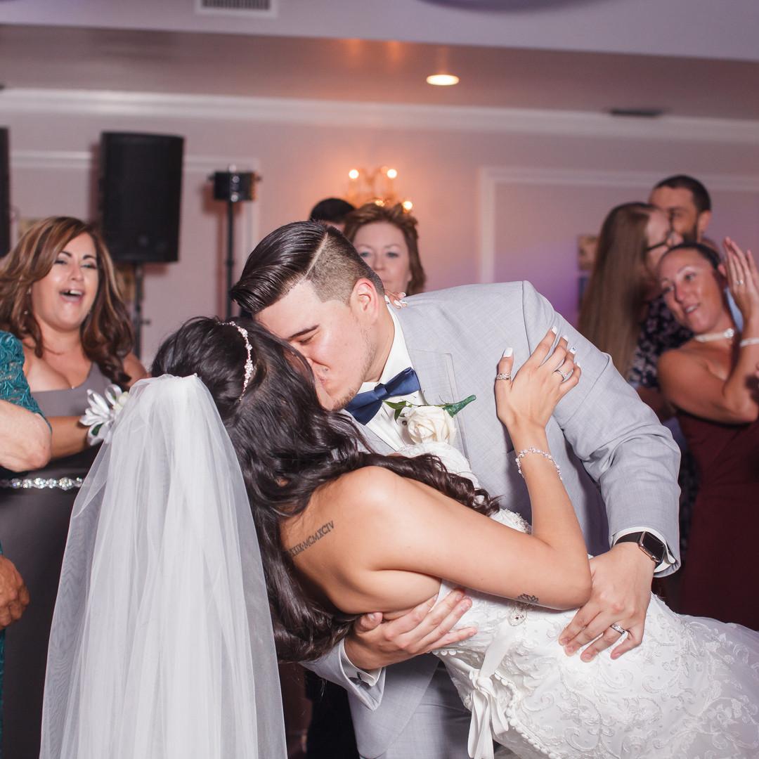 Melinda & Angel Rendon celebrating their wedding day at Royal Fiesta Event Center in Deerfield Beach!