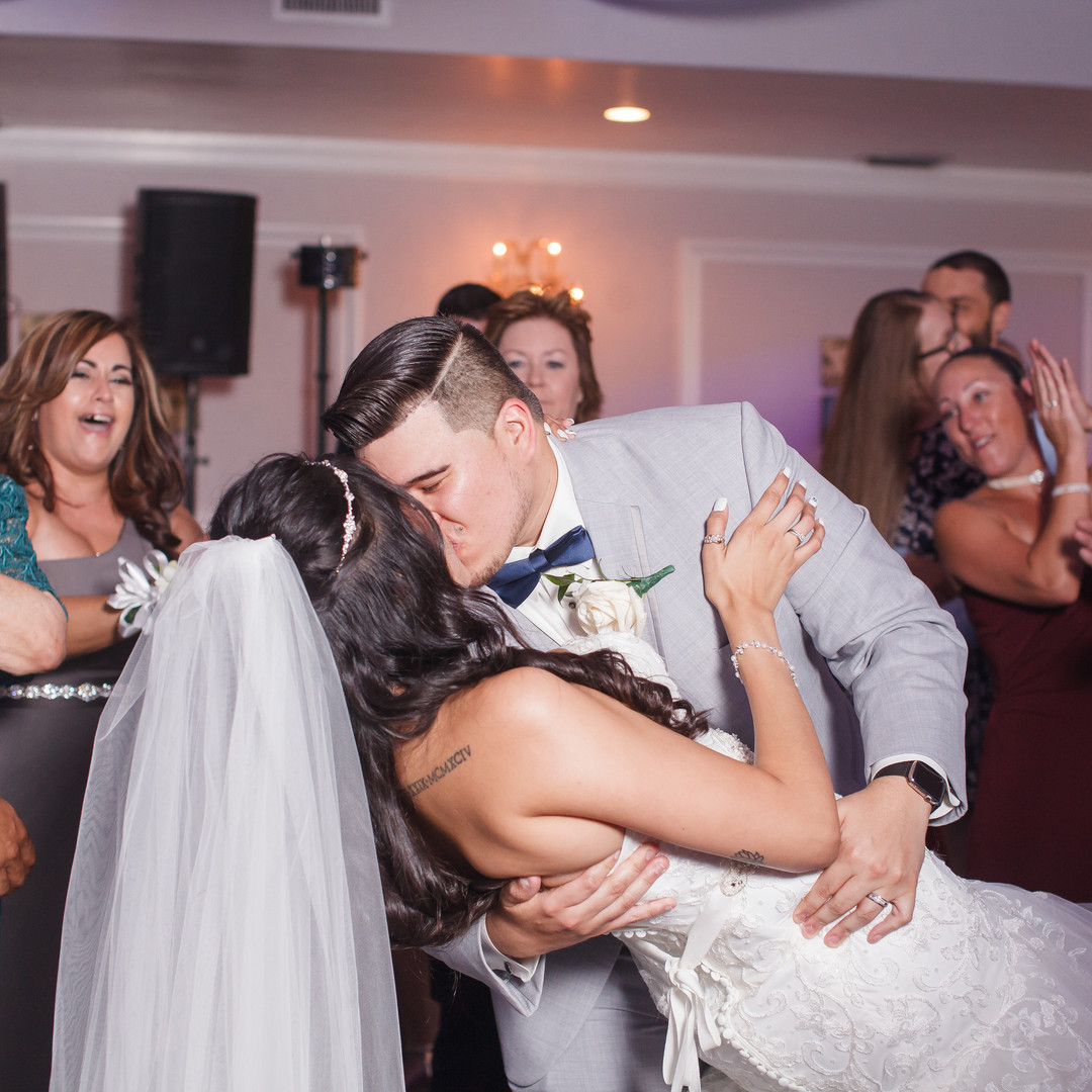 Melinda & Angel Rendon celebrating their wedding day at Royal Fiesta Event Center in Deerfield Beach!