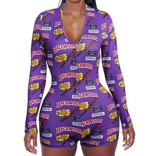 Womens Jumpsuit Sleepwear