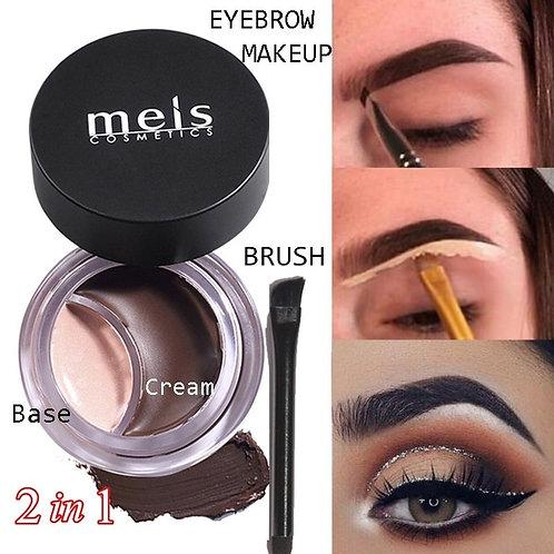 Brow Gel Cream Concealer Waterproof Eyebrow Enhancers Tint Pomade 2 in 1 Kit