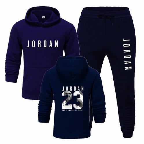 2 Pieces Sets Tracksuit Men Jordan 23 Hooded Sweatshirt with pants outfit