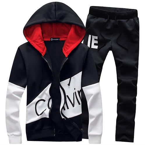 Men 5XL Large Size Tracksuit Sportswear Jackets Hoodie With Pants