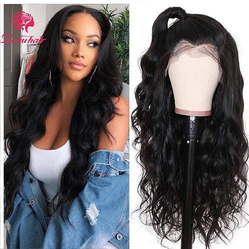 Pre-Plucked 360 Lace Frontal Wig Brazilian Body Wave W Baby Hair Remy Lace Wigs