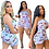 Thumbnail: Butterfly Print Strapless Jumpsuit Sexy Onesies Casual / Playsuit Nightclub