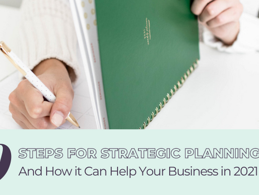 Ten Steps For Strategic Planning And How it Can Help Your Business in 2021 (Part 1)