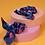 Thumbnail: Blue tulip satin scrunchie x 2