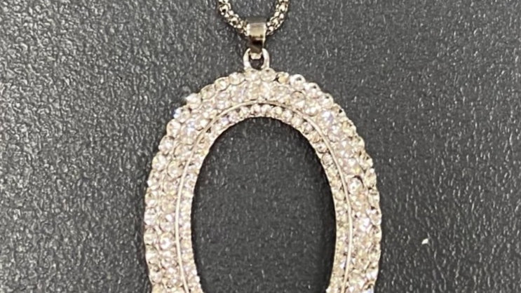 Long sparkly necklace