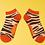 Thumbnail: Zebra print bamboo trainer sock
